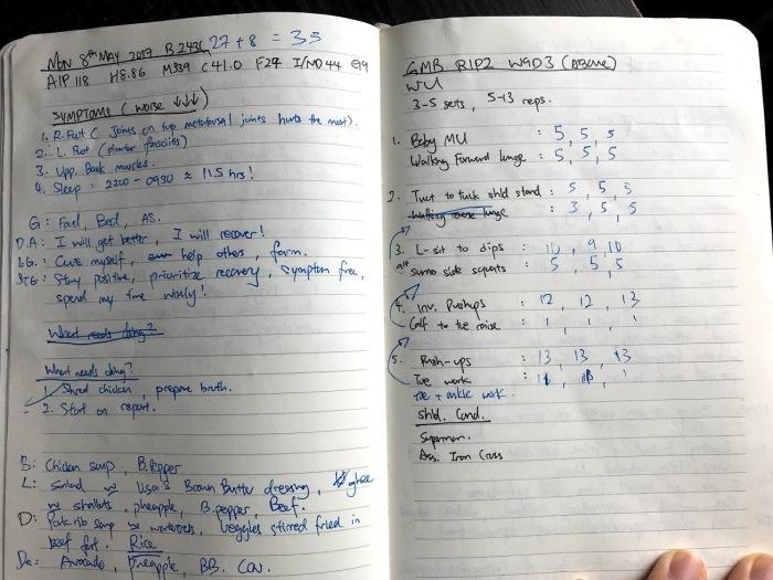 Diary Training log