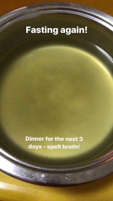 Spelt broth dinner